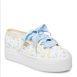 Anthropologie Superga platform floral sneakers